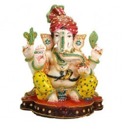 Lored Ganesha Idol (Eco Friendly) 12""